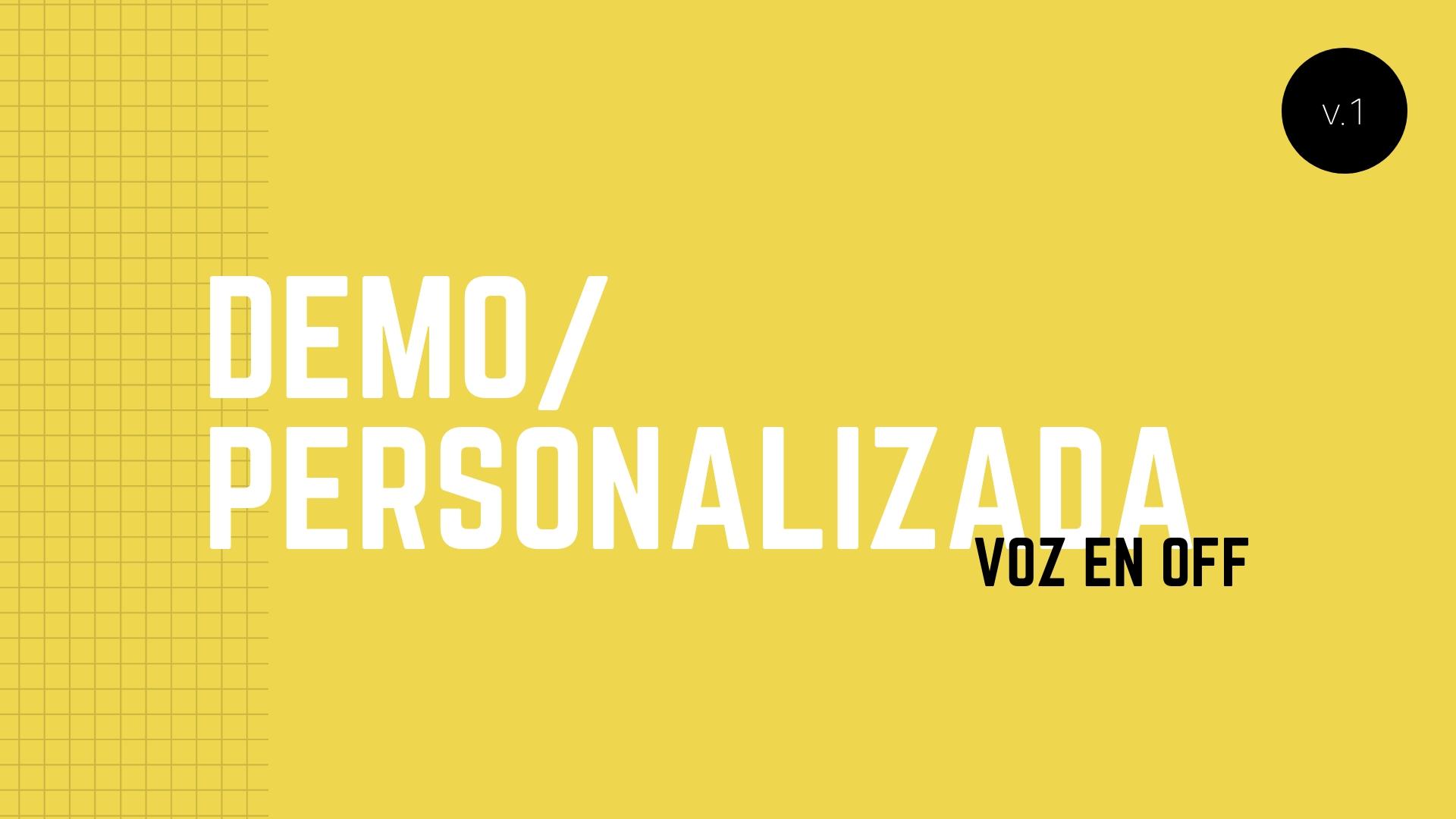 ¿Qué Es Una Demostración De Voz En Off Personalizada?